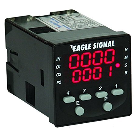 Eagle Signal Repeat Cycle LED Timer with Relay Outputs, compact size, multiple timing functions, easy to program, surface or panel mount, part # B506-7001