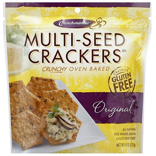 Crunchmaster Multi-Seed Original Crackers, 4.5 oz, (Pack of 12)