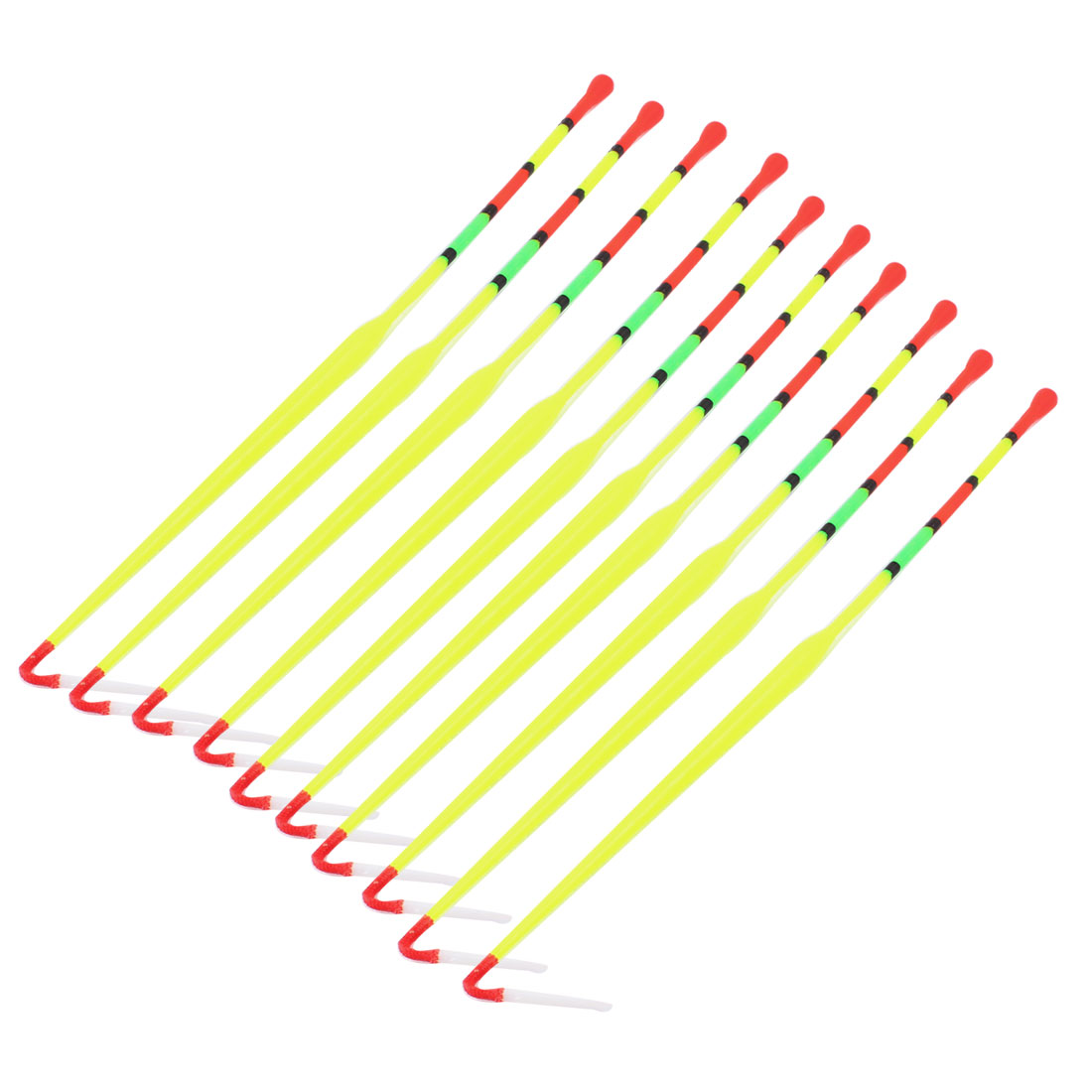 "Click here to buy Unique Bargains 10 Pcs Multicolored Fishing Floaters Bobbers 9.4"" Long by Unique-Bargains."