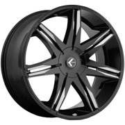 "Kraze KR143 Epic 26x10 5x115/5x120 +18mm Black/Milled Wheel Rim 26"" Inch"
