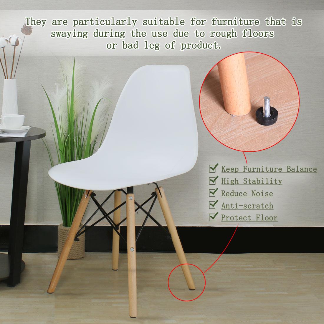 M6 x 18 x 20mm Leveling Feet Furniture Adjustable Leveler for Table Leg 2pcs - image 3 of 7