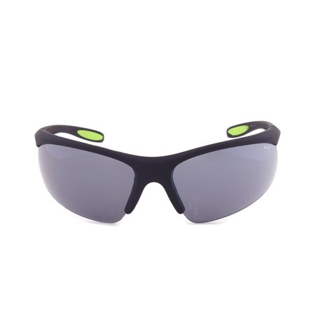 Fila Sport F1060 002 Wrap Sunglasses | Rubberized Black Frame | grey (Fila Sport Sunglasses)