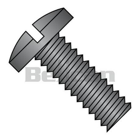 No.4-40 x 0.37 Slotted Binding Undercut Fully Threaded Machine Screw, Black Oxide - Box of 10000 - image 1 de 1