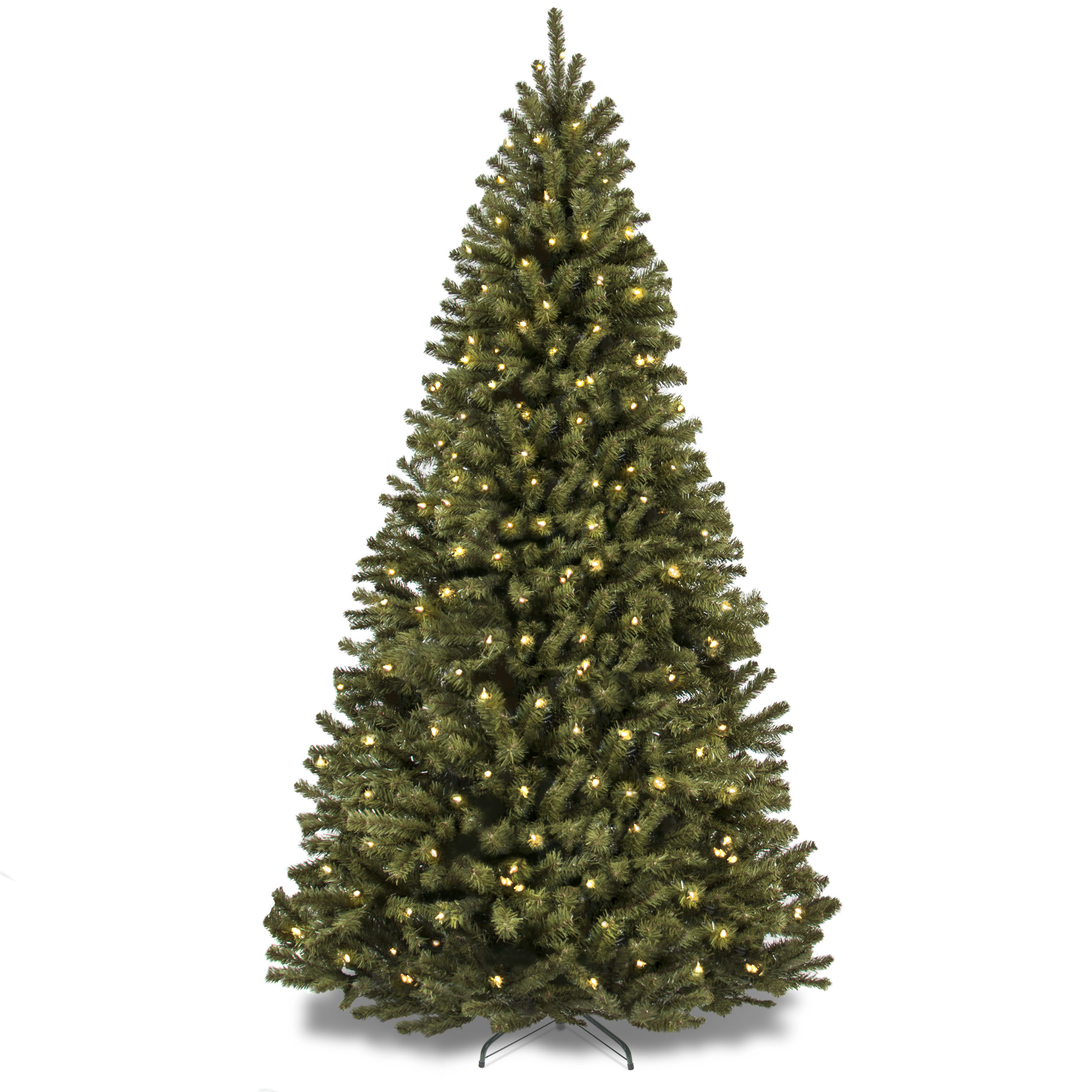 Holiday Time Artificial Christmas Trees Pre-Lit 7.5\' Flocked ...