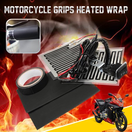 12V 15W Motorcycle motorcycle accessorie Handlebar Hand Grip Heated Wrap Hand Warm Christmas Gift 3 Position High Low ON OFF Switch Universal Motorbike Pit Dirt Bike E-bike ATV Winter Heating US ()
