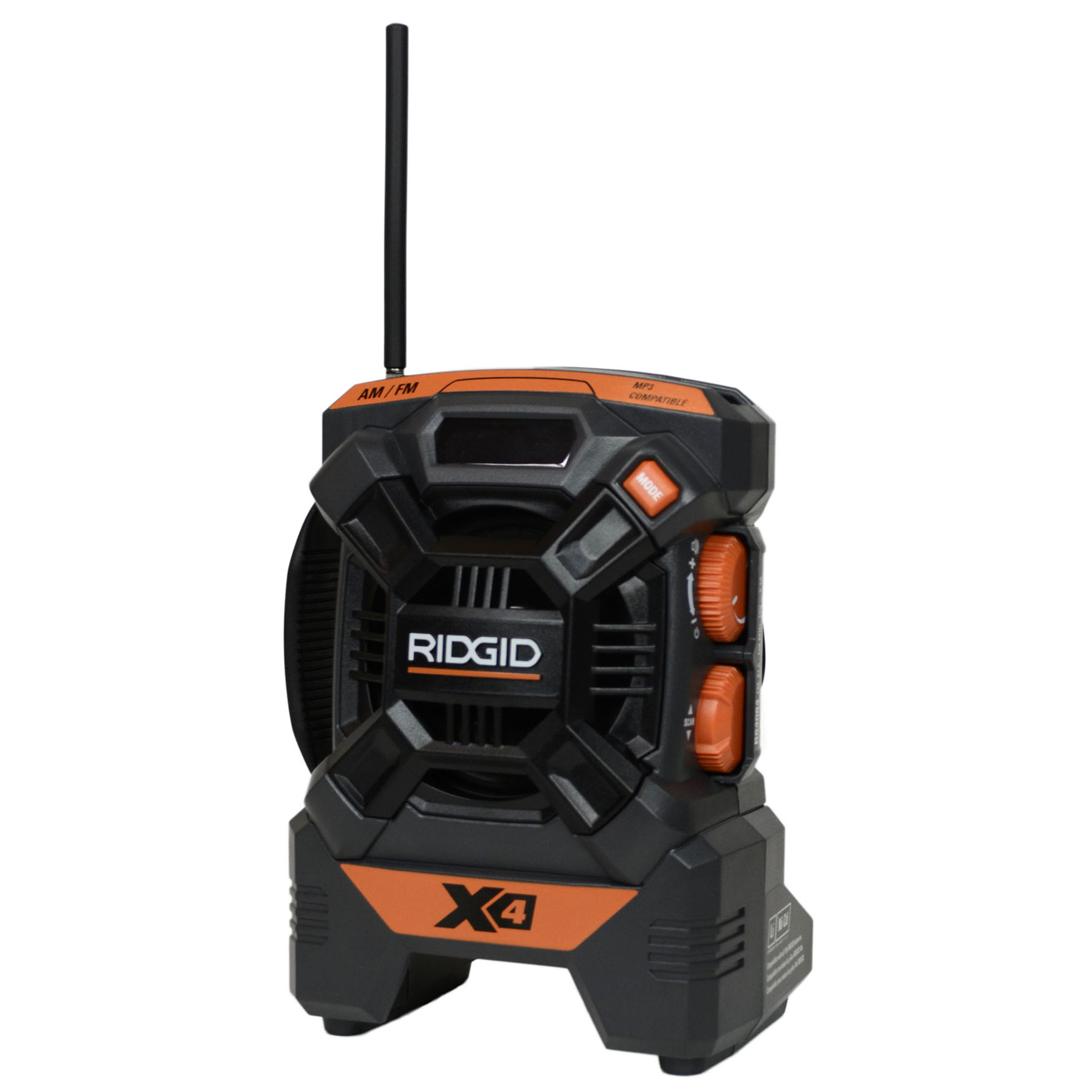 Ridgid R84084 X4 18V AM-FM IPod MP3 Job Site Cordless Min...
