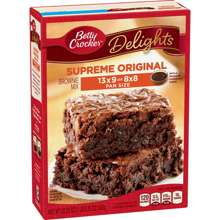 Betty Crocker Delights Supreme Original Brownie Mix, 22 25 Oz
