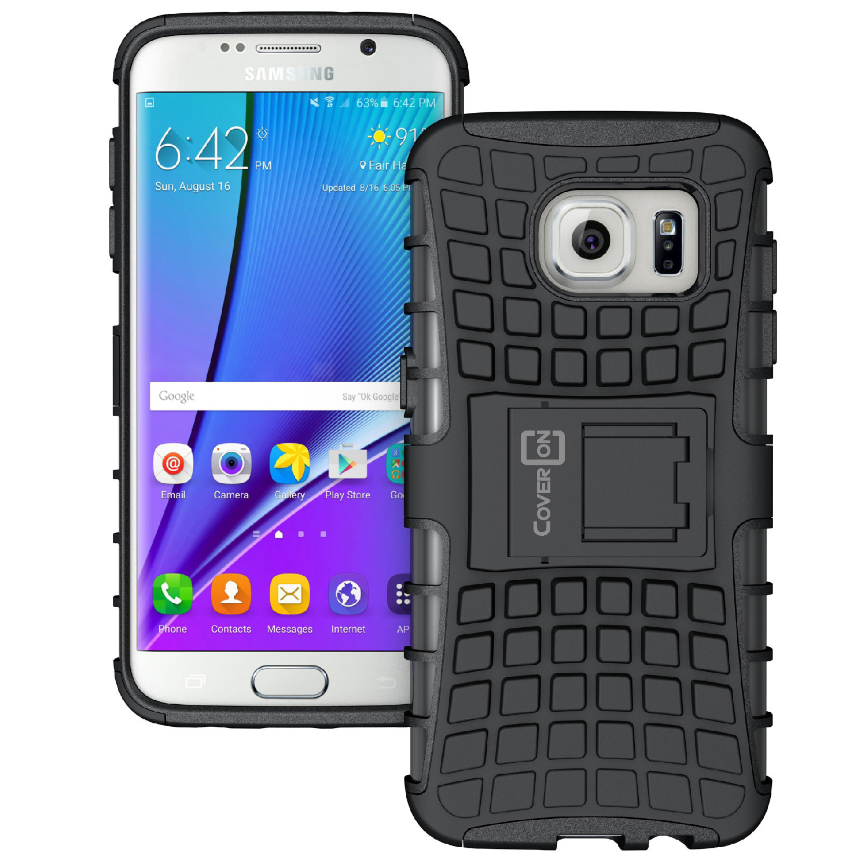 CoverON Samsung Galaxy S7 Edge Case, Atomic Series Slim Protective Kickstand Phone Cover