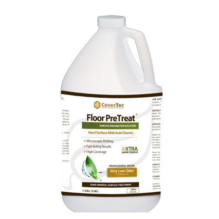 PreTreat Floor Acid Cleaner and Etching Treatment for Ceramic Tiles, Concrete (1 GAL - Prof Grade) ()