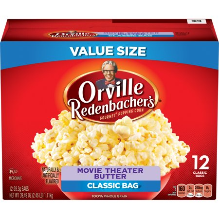 Orville Redenbachers Movie Theater Butter Popcorn  Classic Bag  12 Count