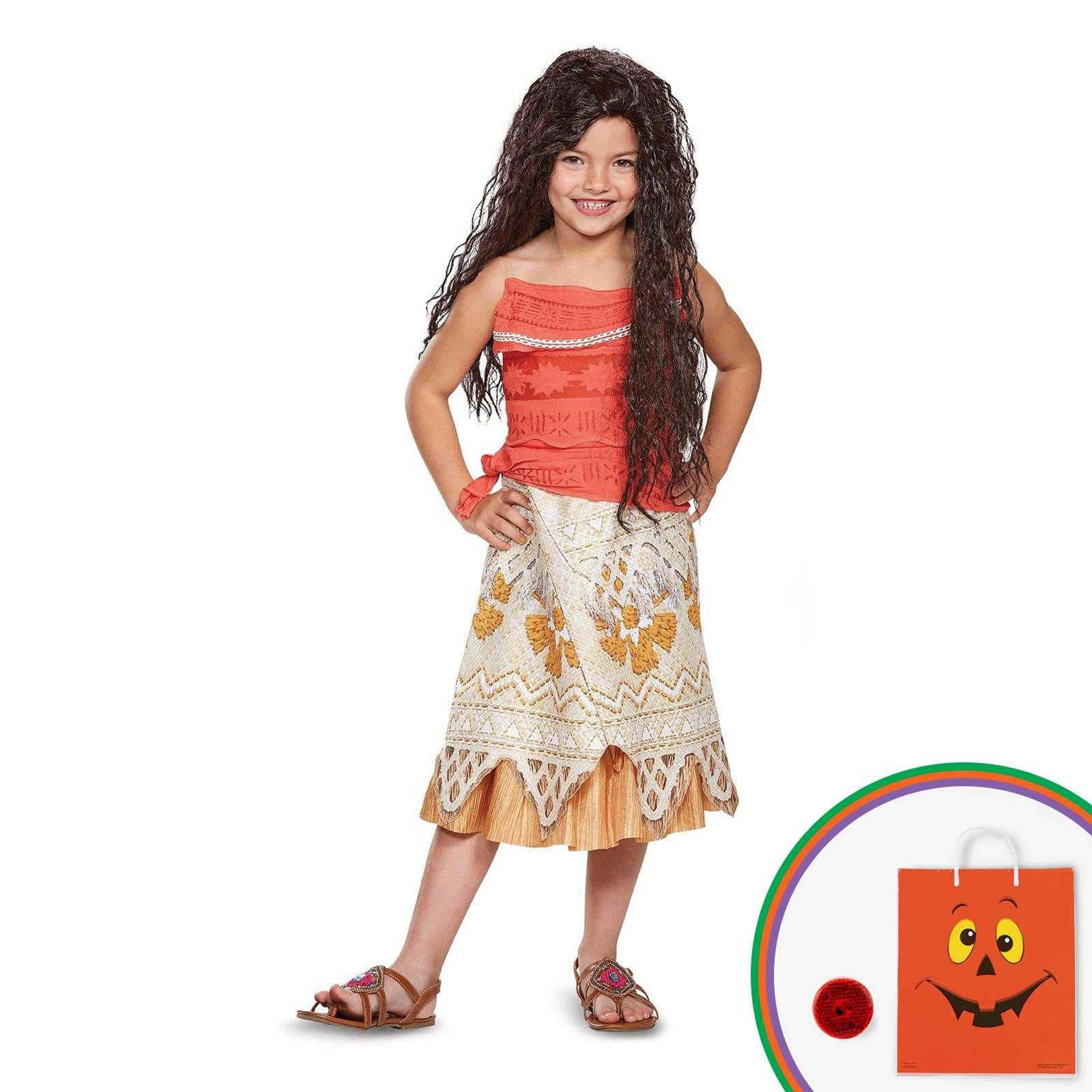 Disney Princess Moana Classic Child Costume Kit with Free Gift