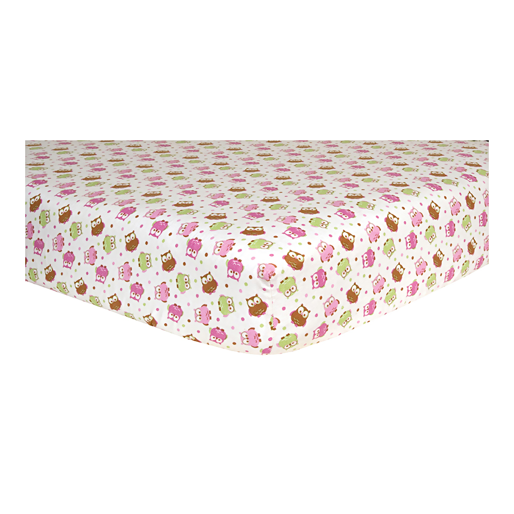 Owl Deluxe Flannel Fitted Crib Sheet