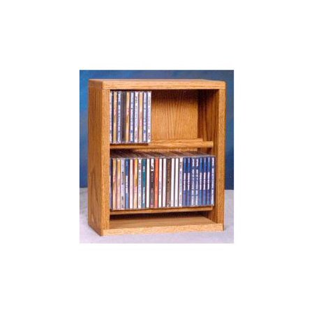 12.25 in. Dowel CD Storage Rack (Honey Oak)