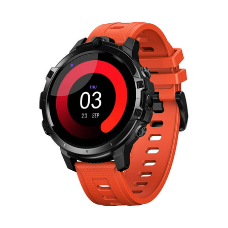 Zeblaze THOR 6 4G Smart Watch 1.6-inch IPS Touch-Screen Octa Core Processor 4GB RAM+64GB ROM 5.0MP Dual Cameras Fitness Activity Heart Rate Monitor Pedometer 4G LTE Smartwatch for Android iOS Orange