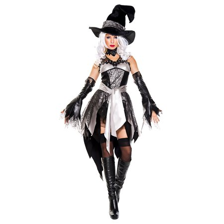 Glam Witch Adult Costume - - Glam Witch Makeup For Halloween