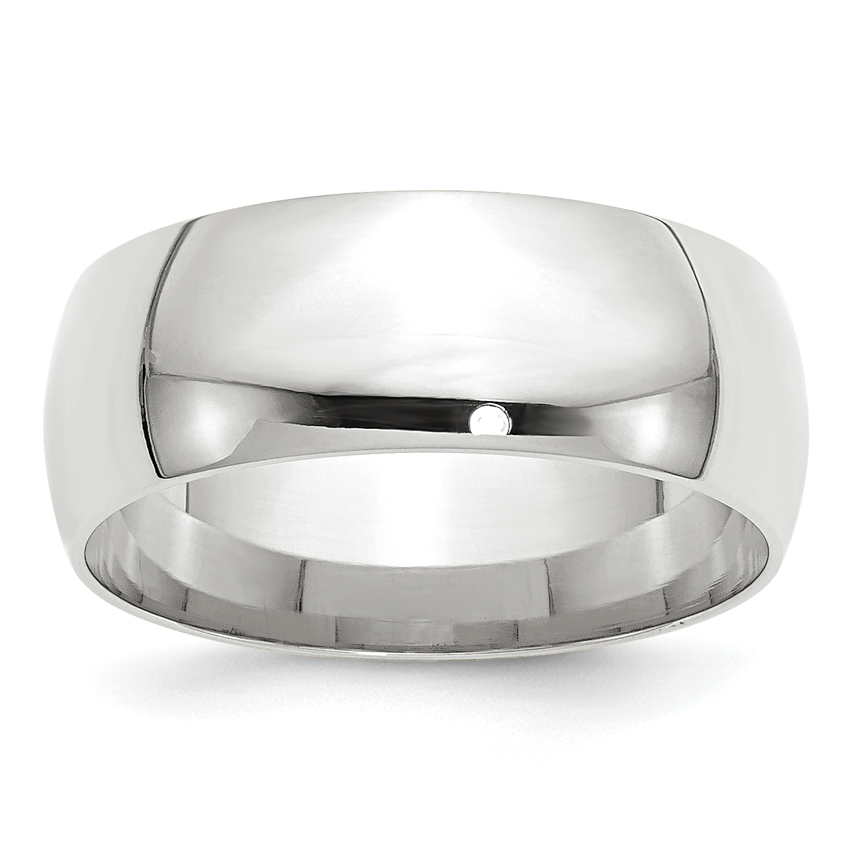 10K White Gold 8mm Light Weight Comfort Fit Band Size 5.5 - image 3 de 3