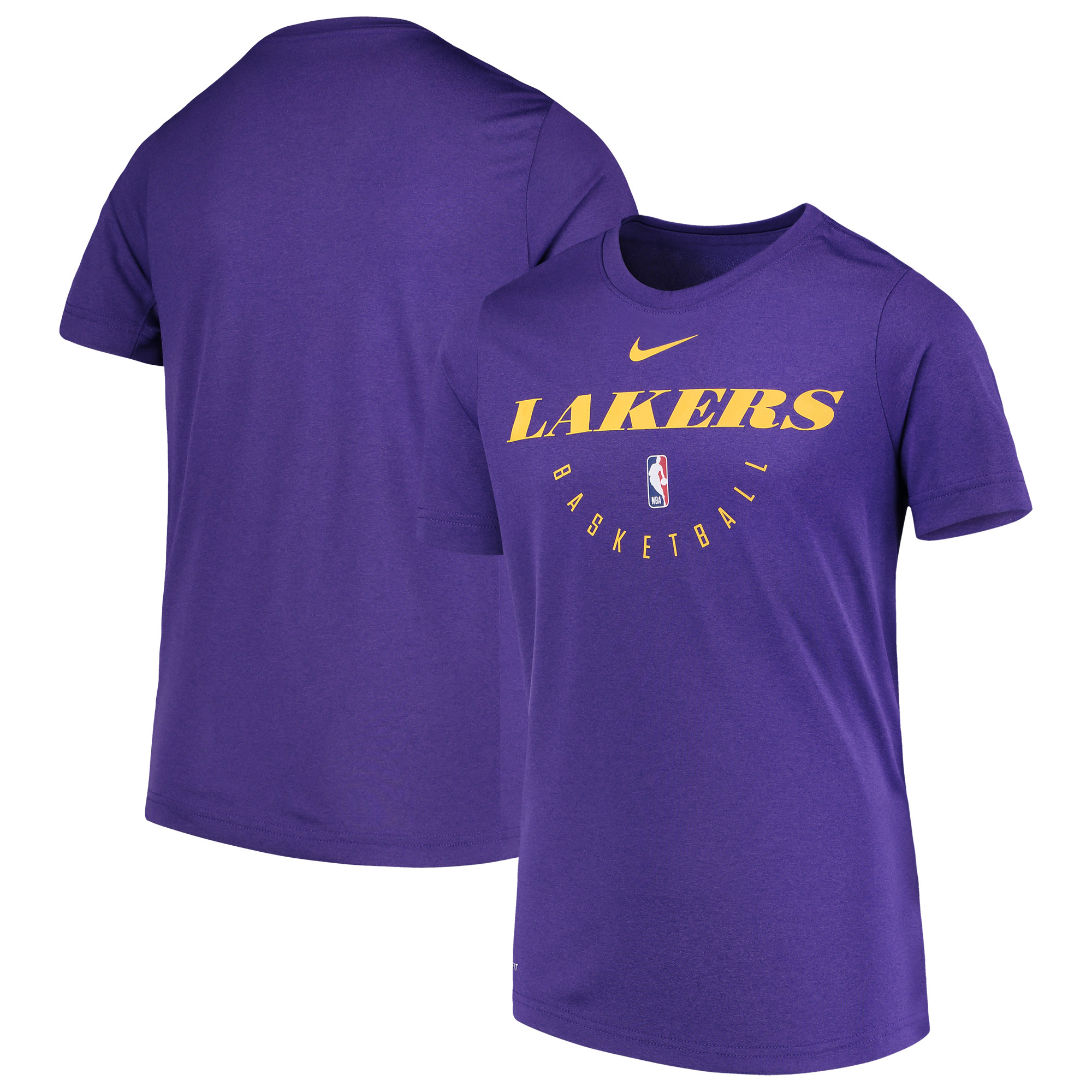 Los Angeles Lakers Nike Youth Practice Logo Legend Performance T-Shirt - Purple
