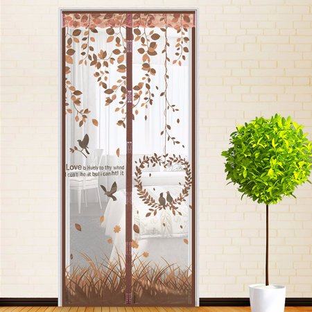 Polyester Magnetic Screen Door with Heavy Duty Magnets and Mesh Curtain by Everyday Home