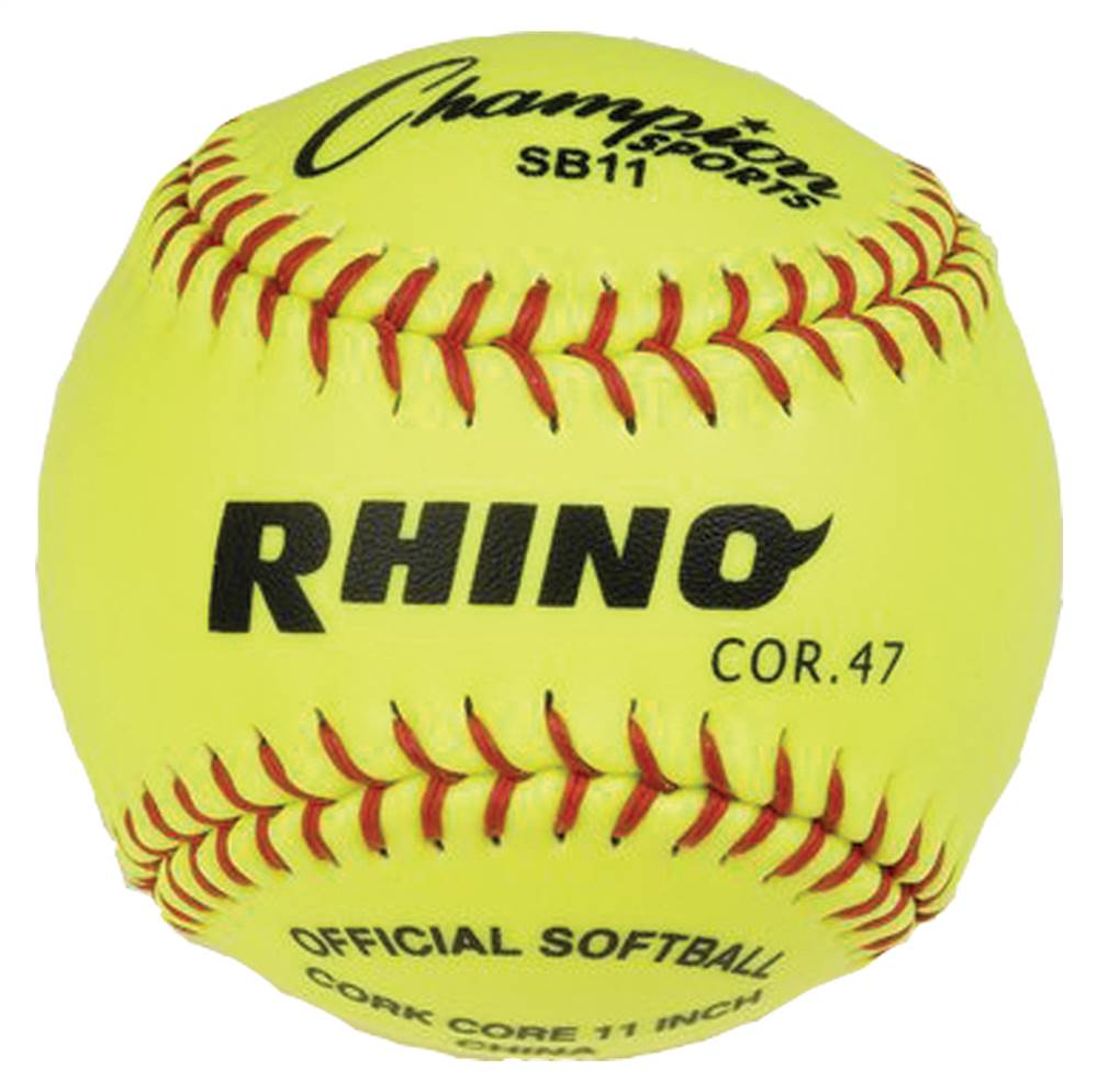 Syntex Cover Softball in Optic Yellow - Set of 12