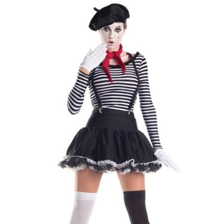 Mesmerizing Mime Costume PK222 Raveware Black/White for $<!---->