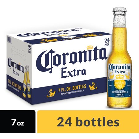 Corona Extra Coronita Mexican Import Beer, 24 pk 7 fl oz Bottles, 4 6% ABV