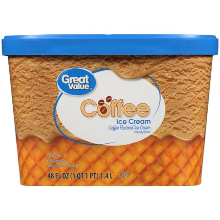 Great Value Coffee Ice Cream, 48 fl oz