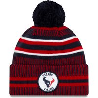 Houston Texans New Era 2019 NFL Sideline Home Official Sport Knit Hat - Navy/Red - OSFA