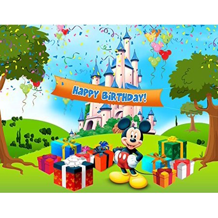 Mickey Mouse Edible Image Photo Cake Topper Sheet Birthday Party 1