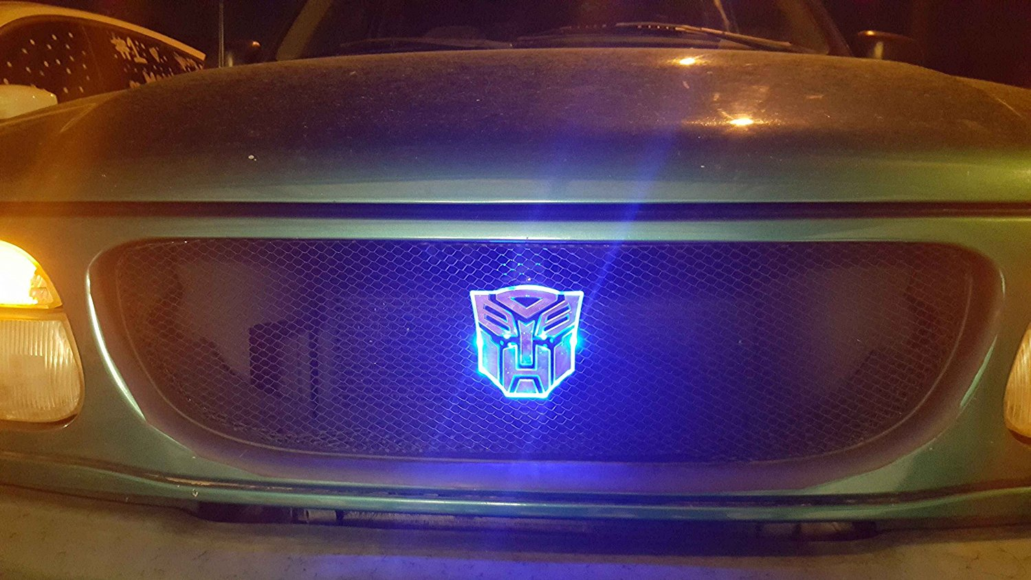 Edge Glowing Led Transformers Autobots Car Emblem Red Walmart