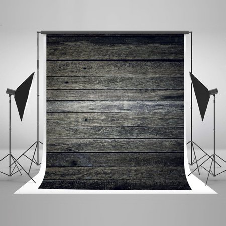 HelloDecor Polyster 5x7ft Dark Wooden pattern Backdrops Photo Studio Backgrounds Photography Backdrop Video Studio Props Children Baby