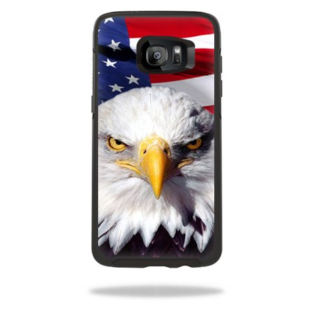 MightySkins Protective Vinyl Skin Decal for OtterBox Symmetry Samsung Galaxy S7 Edge Case wrap cover sticker skins America Strong
