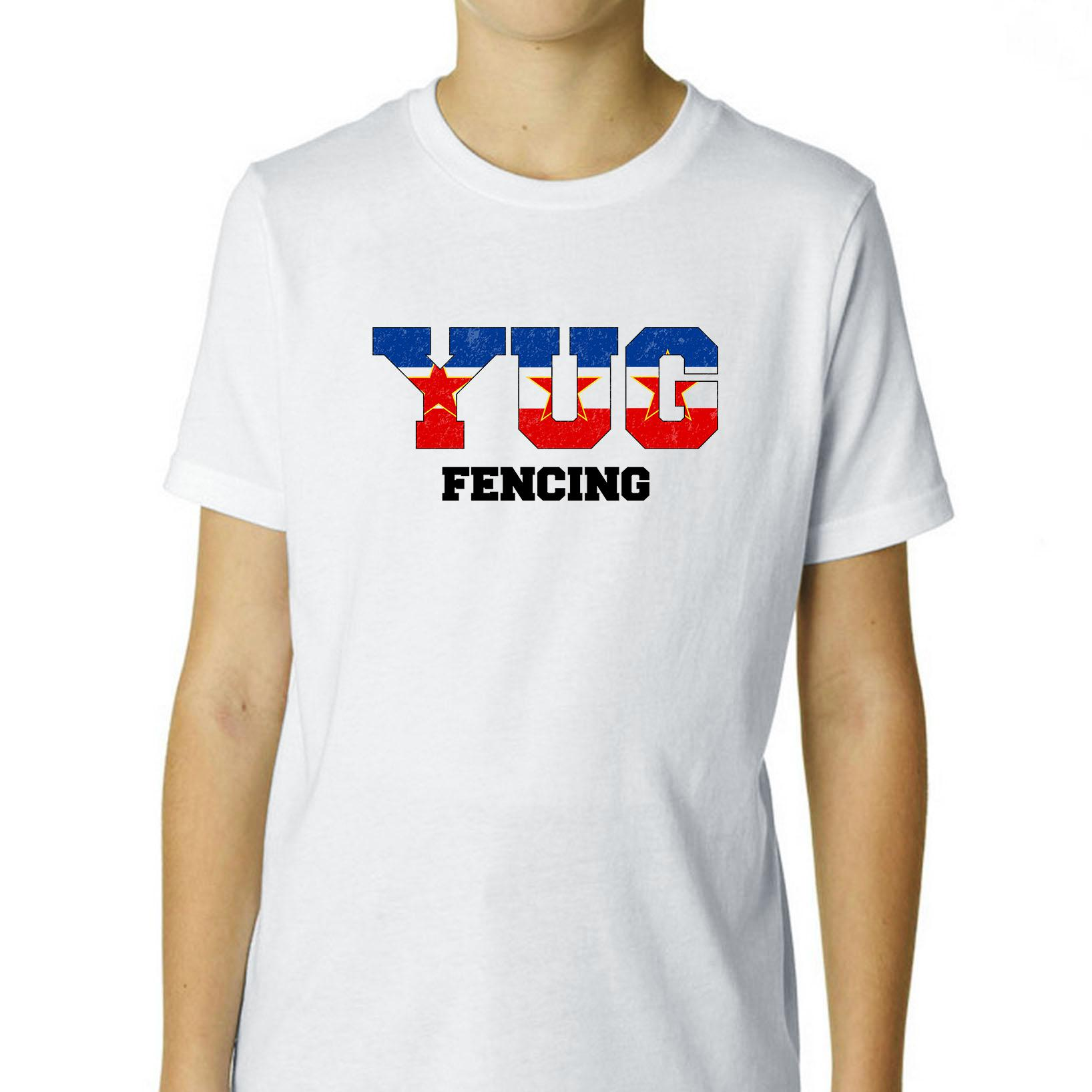 Yugoslavia Fencing - Olympic Games - Rio - Flag Boy's Cotton Youth T-Shirt
