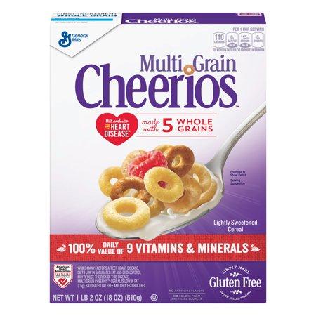 Multi Grain Cheerios Gluten Free Cereal, 18 oz Box