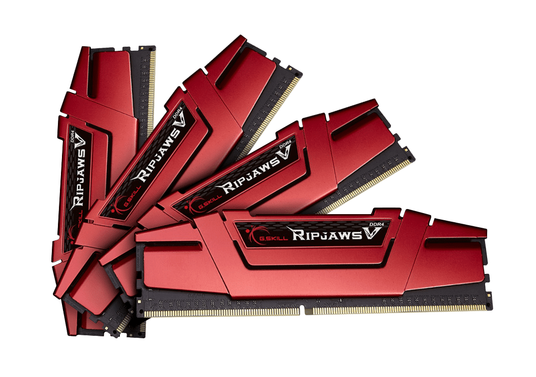 32GB G.Skill DDR4 PC4-22400 2800MHz Ripjaws V for Intel Z170 / X99 CL15 Quad Channel kit (4x8GB) 1.25V