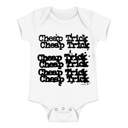 Cheap Trick Boys' Logo Bodysuit White