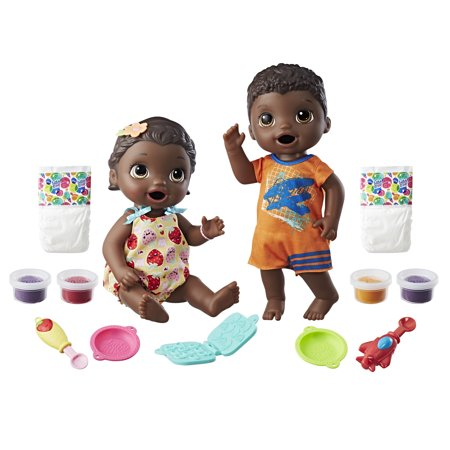 Baby Alive Snackin' Twins Luke and Lily - Black (Twins Babies Photo)