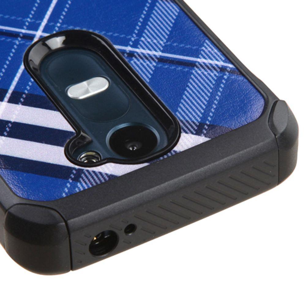 LG Leon Phone Case, LG Leon Case, by Insten Diagonal Plaid Hard Dual Layer Hybrid Case For LG Leon/Risio/Tribute 2 case cover - image 1 de 3