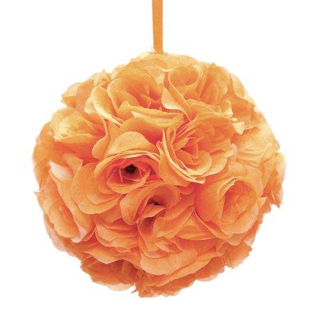 Silk flower kissing balls wedding centerpiece 10 inch orange silk flower kissing balls wedding centerpiece 10 inch orange mightylinksfo