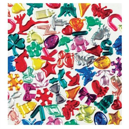 Creativity Street Fun Gems Bag  Assorted Shapes And Colors