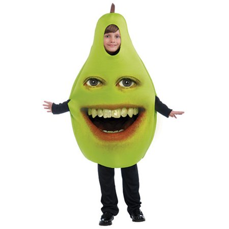 Childs 1-Size Medium-Large Annoying Orange Pear Costume - Annoying Orange Happy Halloween