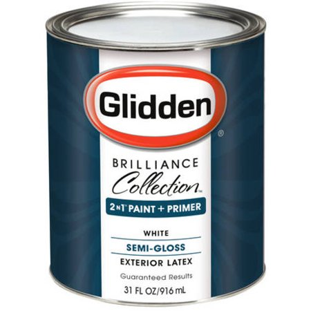 Glidden Brilliance Collection Exterior Semi Gloss White Paint 1 Qt