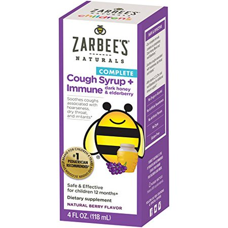 2 Pack Zarbees Childrens Cough Syrup Immune Support Daytime Berry Flavor 4oz - Childrens Syrup