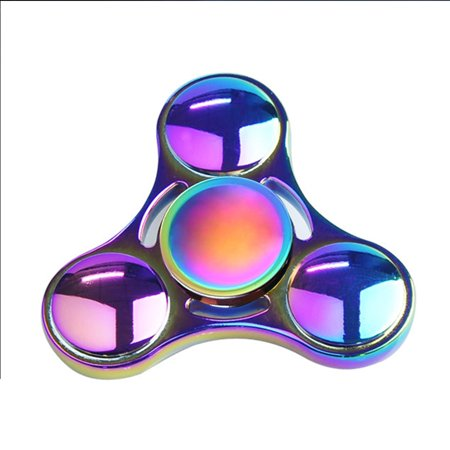 Fidget Triangle Hand Spinner Metal Adhd Autism Focus Finger Toys