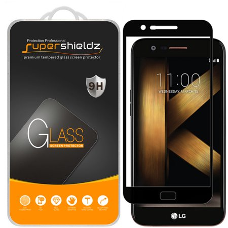 [2-Pack] Supershieldz LG Grace LTE  [Full Screen Coverage] Tempered Glass Screen Protector, Anti-Scratch, Anti-Fingerprint, Bubble Free (Black (Free Glasses Uk)