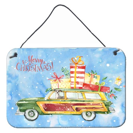 Merry Christmas Italian Greyhound Wall or Door Hanging Prints ()