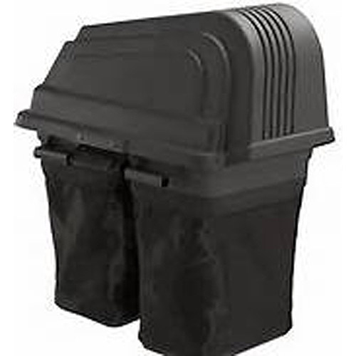 "Outdoor Factory Parts 46"" 2-Bin Soft-Sided Bagger, Black"