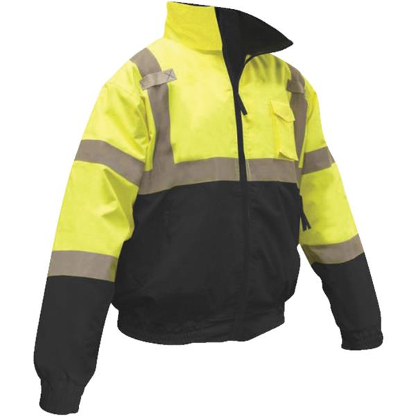 Ergodyne 24475 Class 3 XL Bomber Safety Jacket X-Large Lime