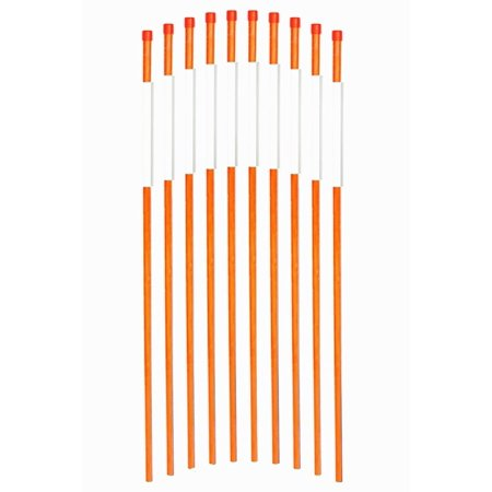 FiberMarkers 48-Inch Reflective Driveway Markers Driveway Poles for Easy Visibility at Night 1/4 Inch Diameter Orange,50 pack