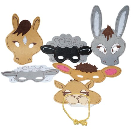 Felt Nativity Animal Masks](Hipster Animal Mask)