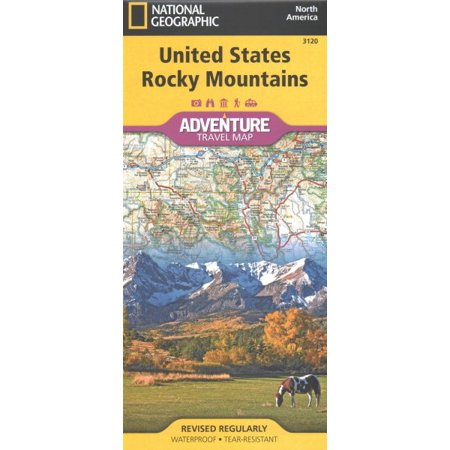 National geographic adventure map: united states, rocky mountains - folded map: 9781566957144